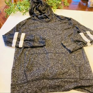 Old Navy gray jersey hoodie w stripes 10/12